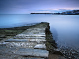 Stone Jetty and New Pier at Dawn, Swanage, Dorset, England, United Kingdom, Europe Photographic Print by Lee Frost