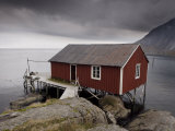 Rorbu on Stilts by Fjord, Lofoten Islands, Norway, Scandinavia, Europe Photographic Print by  Purcell-Holmes