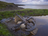 Shipwreck Anchor in Soltuvik Bay, West Coast of Sandoy, Faroe Islands, Denmark, Europe Photographic Print by Patrick Dieudonne