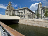 The New Link Between the Leeds and Liverpool Canals, in Front of the Three Graces Photographic Print by Ethel Davies
