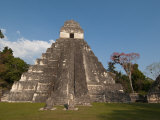 Gran Plaza and Temple I, Mayan Archaeological Site, Tikal, Guatemala Photographic Print by Sergio Pitamitz
