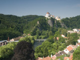 Chateau Vranov, Town of Vranov Nad Dyji and River Dyje, Brnensko Region, Czech Republic, Europe Photographic Print by Richard Nebesky