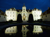 Baroque Valtice Chateau at Twilight, Valtice, Brnensko Region, Czech Republic, Europe Photographic Print by Richard Nebesky