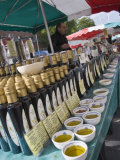Olive Oil Stall at the Italian Market at Walton-On-Thames, Surrey Photographic Print by Hazel Stuart