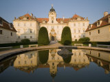 Baroque Valtice Chateau at Sunrise, Valtice, Brnensko Region, Czech Republic, Europe Photographic Print by Richard Nebesky