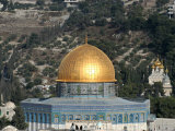 The Dome of the Rock and Mount of Olives, Jerusalem, Israel, Middle East Photographic Print by  Godong