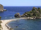 Beach, Isola Bella, Taormina, Sicily, Italy, Mediterranean, Europe Photographic Print by Vincenzo Lombardo