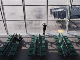 Man Wan Waiting at Airport Gate, Chek Lap Kok Airport, Hong Kong, China, Asia Photographic Print by  Purcell-Holmes