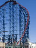 The Big One, the 235Ft Roller Coaster, the Largest in Europe, at Pleasure Beach Photographic Print by Ethel Davies