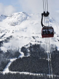 Whistler Blackcomb Peak 2 Peak Gondola, Whistler Mountain, 2010 Winter Olympic Games Venue Photographic Print by Christian Kober