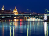 Pont De L'Universite, River Rhone, Lyon, Rhone Valley, France, Europe Photographic Print by Nico Tondini