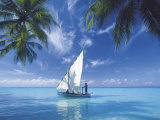 Traditional Dhoni, Maldives, Indian Ocean, Asia Photographic Print by Sakis Papadopoulos