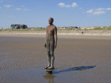 One of the 100 Men of Another Place, also known as the Iron Men, Statues by Antony Gormley Photographic Print by Ethel Davies