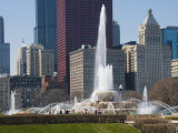 Buckingham Fountain in Grant Park, Chicago, Illinois, United States of America, North America Photographic Print by Robert Harding