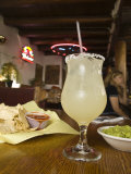 Margarita and Nachos at Maria's Bar and Restaurant, Santa Fe, New Mexico Photographic Print by Michael DeFreitas