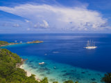 Clipper Ship Anchored Off Ko Miang Island, Similan Islands in the Andaman Sea, Thailand Stampa fotografica di Nico Tondini