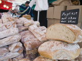 Bread Stall at the Italian Market at Walton-On-Thames, Surrey, England, United Kingdom, Europe Photographic Print by Hazel Stuart