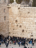 Worshippers at the Western Wall, Jerusalem, Israel, Middle East Photographic Print by Michael DeFreitas