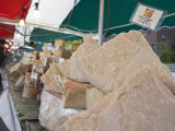 Cheese Stall at the Italian Market at Walton-On-Thames, Surrey, England, United Kingdom, Europe Photographic Print by Hazel Stuart