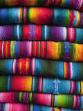 Textiles at Chichicastenango Market, Guatemala, Central America Photographic Print by Sergio Pitamitz