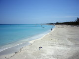 Beach Scene, Varadero, Cuba, West Indies, Central America Photographic Print by John Harden
