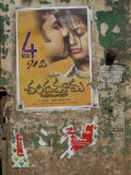 Bollywood Movie Poster on Wall, Hospet, Karnataka, India, Asia Photographic Print by Annie Owen