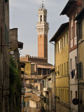 View of the Torre Del Mangia and Old Streets in Siena, Tuscany, Italy, Europe Photographic Print by John Woodworth