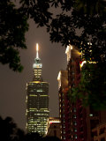 Taipei 101 at Night, Taipei, Taiwan, Asia Photographic Print by Charles Bowman