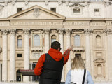 Tourists at St. Peter's Basilica, Vatican, Rome, Lazio, Italy, Europe Photographic Print by  Godong