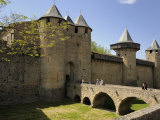 Entrance to Chateau Comtal in the Walled and Turreted Fortress of La Cite, Carcassonne, Languedoc Photographic Print by Peter Richardson