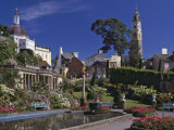 Portmeirion Village, Created by Sir Clough Williams-Ellis Between 1925 and 1972, Porthmadog Photographic Print by Nigel Blythe
