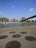 Brooklyn Bridge Spanning the East River from Fulton Ferry Landing, Brooklyn Photographic Print by Amanda Hall