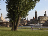 River Elbe, Hofkirche, Castle, and Frauenkirche, Dresden, Saxony, Germany Photographic Print by Dallas & John Heaton