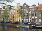 Houses Along Canal, Leiden, Netherlands, Europe Photographic Print by Ethel Davies