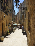 Street in the Medieval Old Town of Sarlat, Dordogne, France. Europe Photographic Print by Peter Richardson