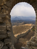 View of a Section of the Great Wall, Between Jinshanling and Simatai Near Beijing Photographic Print by John Woodworth