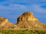 Sandstone Butte in Chaco Culture National Historical Park Scenery, New Mexico Photographic Print by Michael DeFreitas