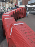 Red Telephone Box Sculpture Out of Order by David Mach. Kingston Upon Thames, Surrey Photographic Print by Hazel Stuart