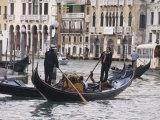 Gondolas on the Grand Canal, Rialto, Venice, UNESCO World Heritage Site, Veneto, Italy, Europe Photographic Print by Hazel Stuart