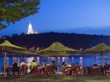 Outdoor Dining Below the Lavra and Dnieper River, Kiev, Ukraine, Europe Photographic Print by Christian Kober