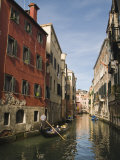 Gondola on Rio Dei Santi Apostoli Canal, Venice, Veneto, Italy, Europe Photographic Print by Hazel Stuart