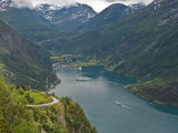 Geiranger Fjord, UNESCO World Heritage Site, Norway, Scandinavia, Europe Photographic Print by Michael DeFreitas