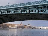 Pont De L'Universite, River Rhone, Lyon, Rhone Valley, France, Europe Photographic Print by Nico Tondini