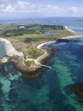 Aerial Shot of Tresco, Isles of Scilly, Cornwall, United Kingdom, Europe Photographic Print by Robert Harding