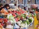 Fruit and Vegetable Stands, Bessarabsky Rynok Market, Kiev, Ukraine, Europe Photographic Print by Christian Kober