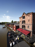 Old Barge Restaurant, Bar and Cafe, Riverside Granary Warehouses, Porvoonjoki Rive Photographic Print by Dallas & John Heaton