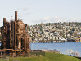Gas Works Park, Lake Union, Seattle, Washington State, United States of America, North America Photographic Print by Christian Kober