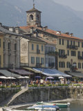 Promenade Cafes by the Old Harbour, Cannobio, Lago Maggiore, Switzerland, Europe Photographic Print by James Emmerson