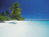 Island and Lagoon, Maldives, Indian Ocean, Asia Photographic Print by Sakis Papadopoulos