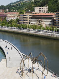 Giant Spider Sculpture by Louise Bourgeois, Nervion River, Bilbao, Basque Country, Spain, Europe Photographic Print by Christian Kober